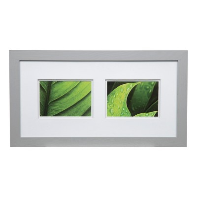 """22"""" x 12"""" Multiple Image Frame Wide Gray  - Gallery Solutions"""