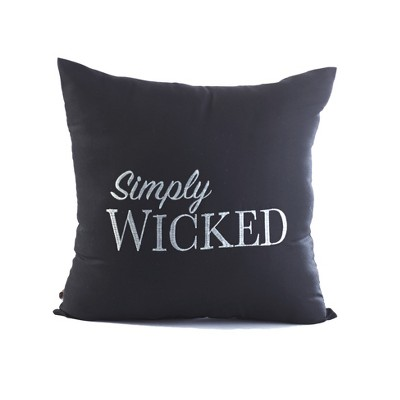 Lakeside Simply Wicked Embroidered Pillow For Bedrooms And Furniture : Target