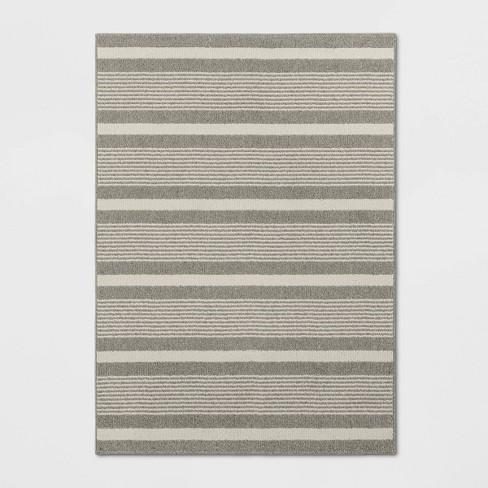 Indoor/Outdoor Stripe Tufted Novelty Rug - Threshold™ - image 1 of 3