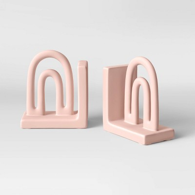 """6"""" x 3"""" Ceramic Bookend Pink - Opalhouse™"""