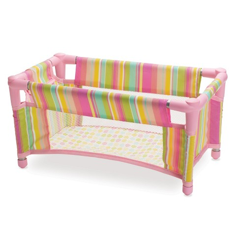 Manhattan Toy Baby Stella Baby Doll Take Along Travel Crib - image 1 of 4