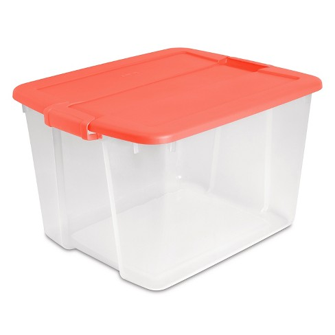 Sterilite 66 Quart Latching Clear Box - Pink - image 1 of 1