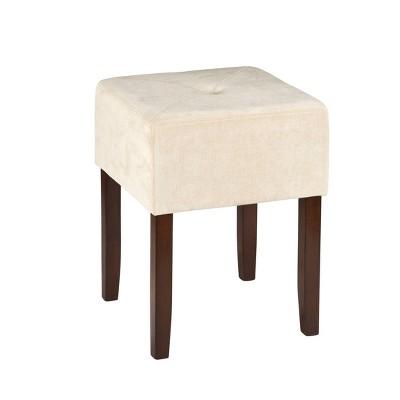 """Bellamy Backless 18"""" Vanity Stool - Brown - Hillsdale Furniture"""