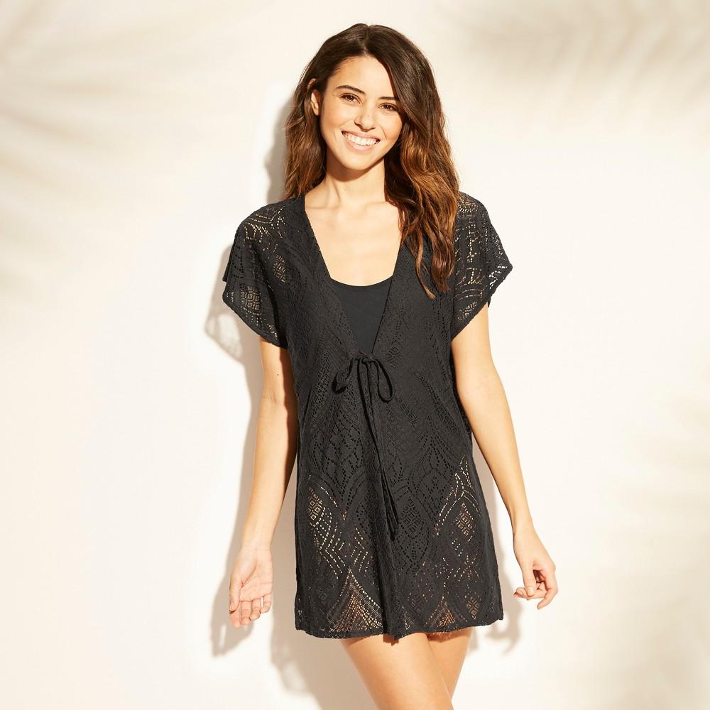 d6363e04e1 Womens Lace Tie Front Kaftan Cover Up Xhilaration Black M