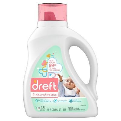Dreft Active Baby Liquid Laundry Detergent - 65 fl oz