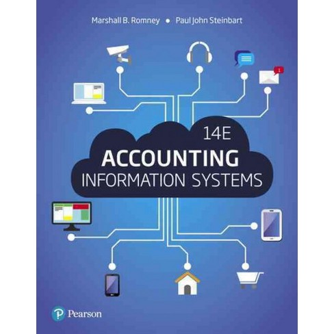 A textbook cover for Accounting Information Systems depicting connecting technologies with a blue background