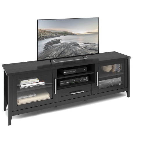"Jackson Extra Wide TV Bench Black 80"" - CorLiving - image 1 of 4"