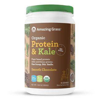 Amazing Grass Organic Vegan Protein & Kale Powder - Chocolate - 19.6oz