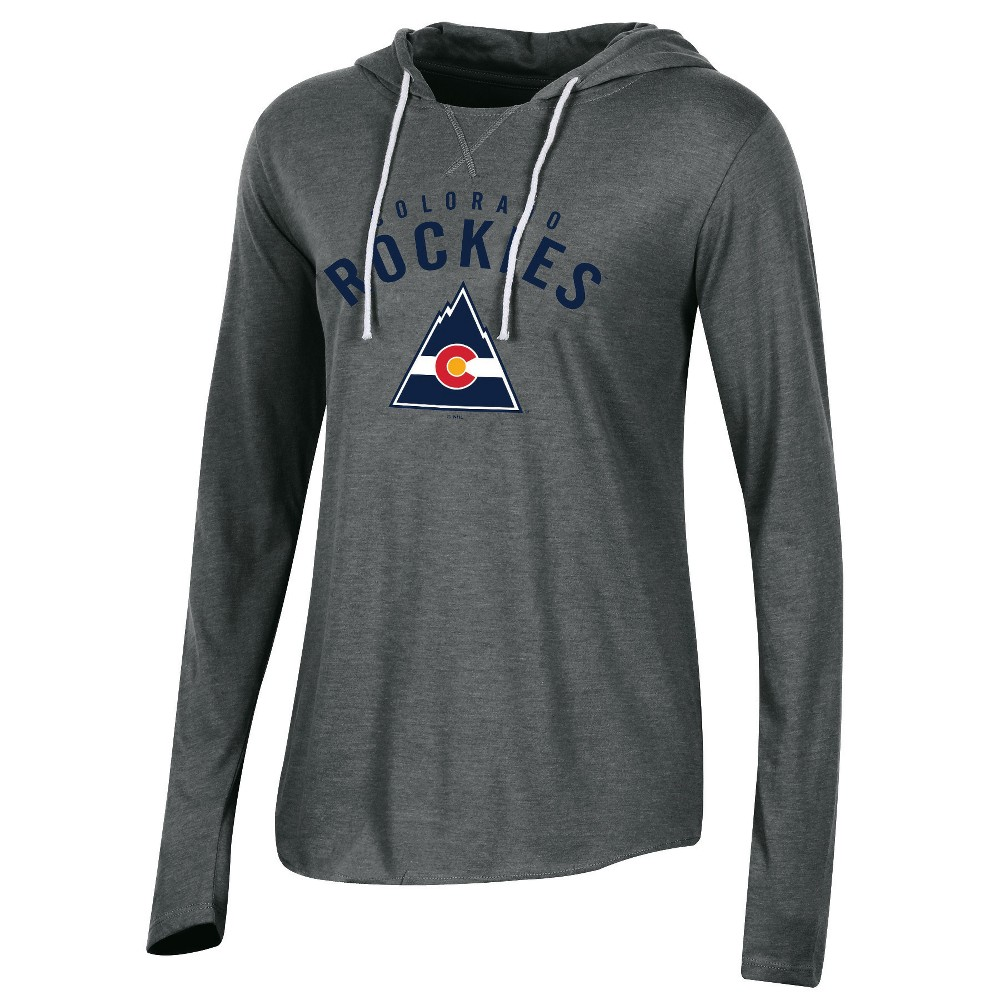 Colorado Rockies Women's Classic Gray Vintage Lightweight Hoodie M, Multicolored
