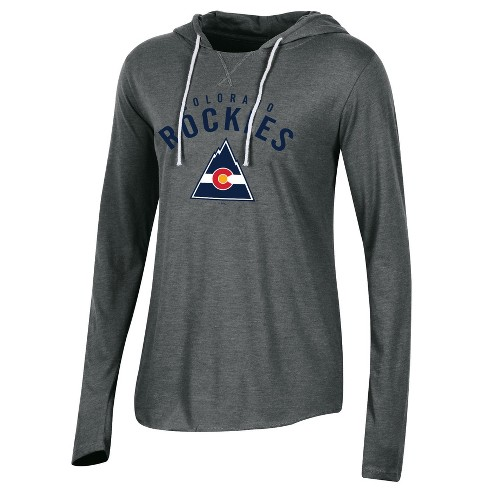 quality design 1dc87 337c6 Colorado Rockies Women's Classic Gray Vintage Lightweight Hoodie S