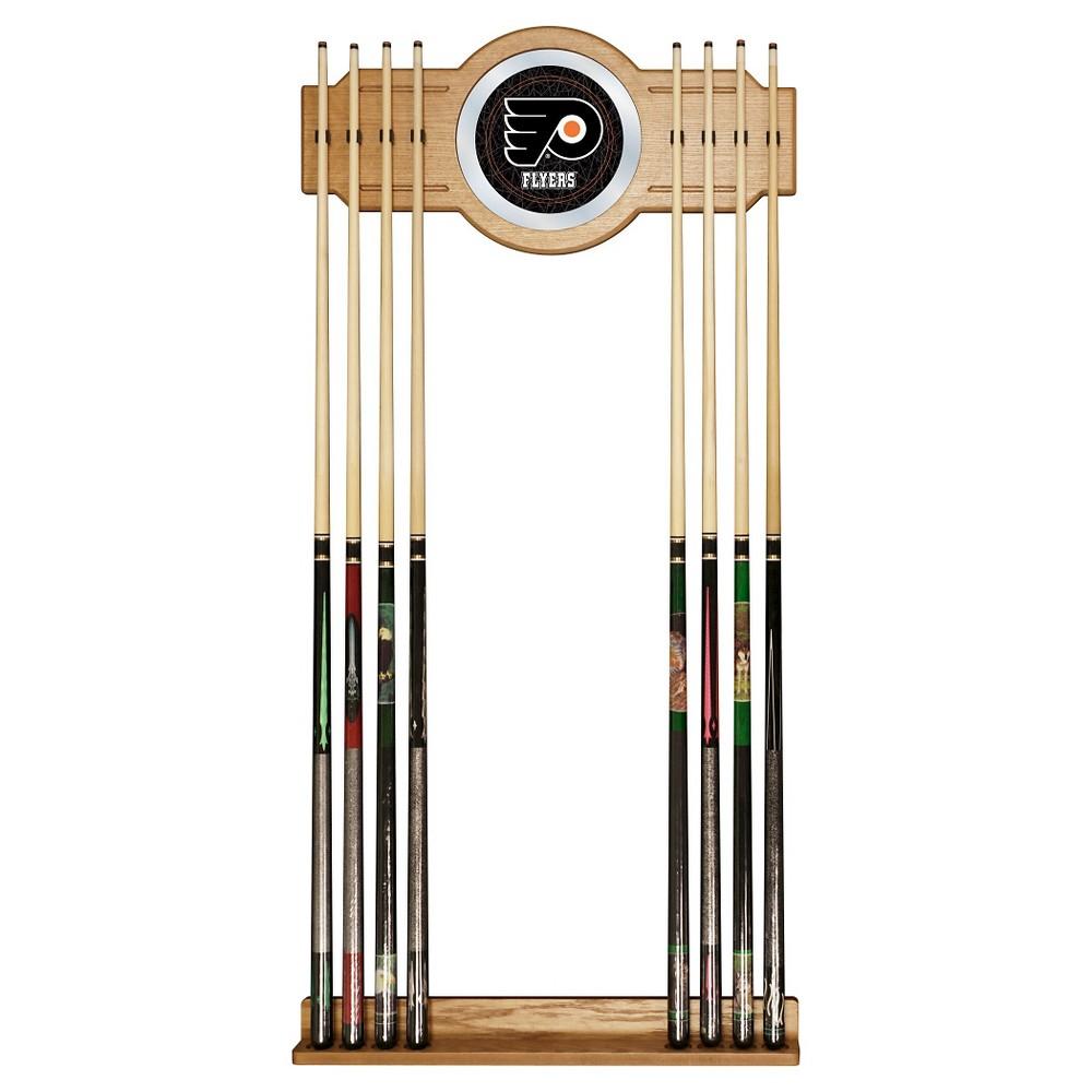 Philadelphia Flyers 2-Pc Wood and Mirror Wall Cue Rack
