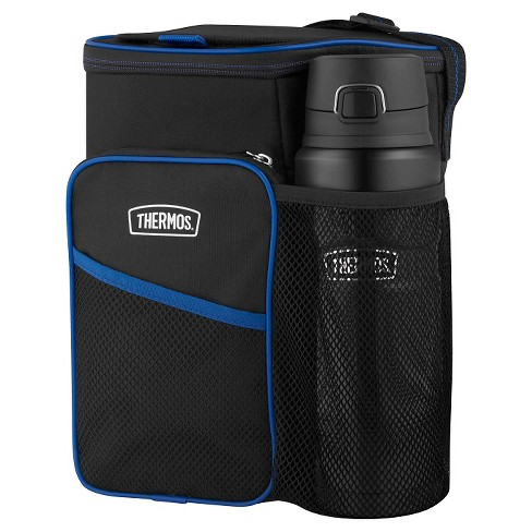 "Thermos 14"" Lunch Cooler and Beverage Bottle Set - Black - image 1 of 6"