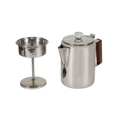 Stansport Stainless Steel Percolator Coffee Pot 9 Cups