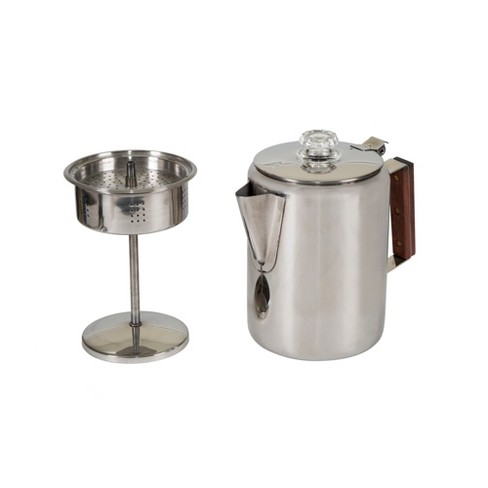 Stansport Stainless Steel Percolator Coffee Pot 9 Cups - image 1 of 4