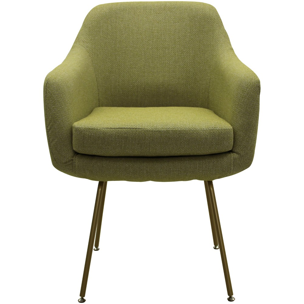Markham Stain Resistant Dining Chair Green - Fox Hill Trading