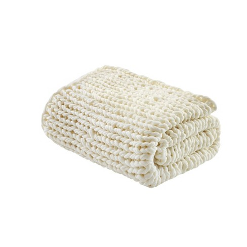 Chunky Double Knit Handmade Throw - image 1 of 4