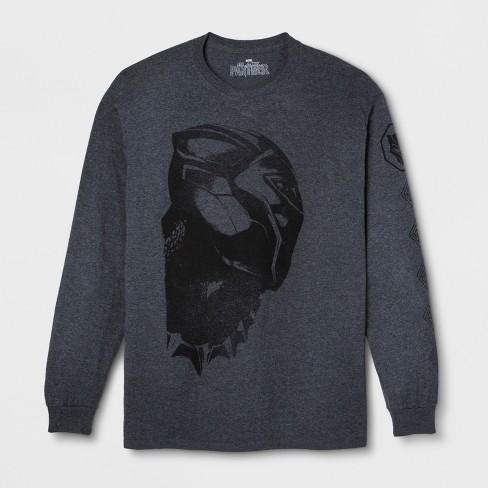 8e78f607616 Men s Marvel Black Panther Long Sleeve T-Shirt - Black Ember Heather. Shop  all Disney
