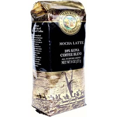 Royal Kona Mocha Latte Medium Roast Ground Coffee - 8oz