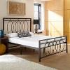 Hattie Metal Platform Bed Queen Black-Eco Dream - image 2 of 3