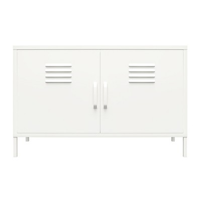 RealRooms Shadwick 2 Door Metal Locker Accent Cabinet