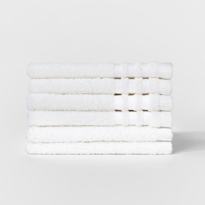 6pk Solid Washcloth Sets True White - Room Essentials™