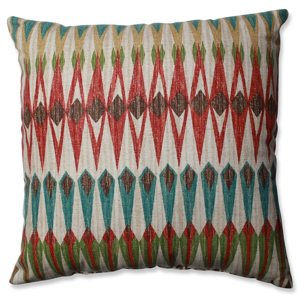 Brown Acela Adobe Throw Pillow (16.5x16.5) 16.5