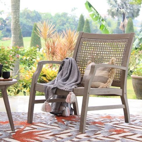 Teak Zuma Patio Lounge Chair Gray - Cambridge Casual - image 1 of 4