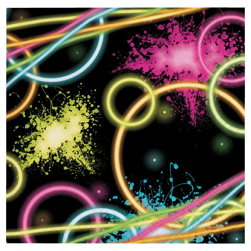 16ct Glow Party Napkins, Disposable Napkins