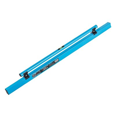 OX Tools 1200 MM 48 Inch Construction Commercial Home Improvement Pro Concrete Screed Darby with Leveling Vial, Round Edge, and Sharp Edge, Blue
