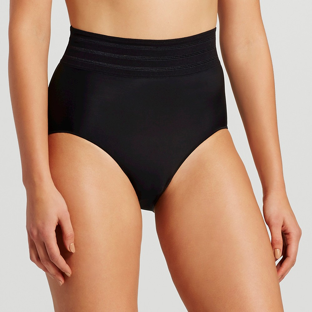 Assets by Spanx Women's Micro Shaping Brief - Black XL, Very Black