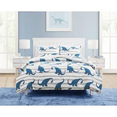 Dinosaur Comforter Set Blue - VCNY