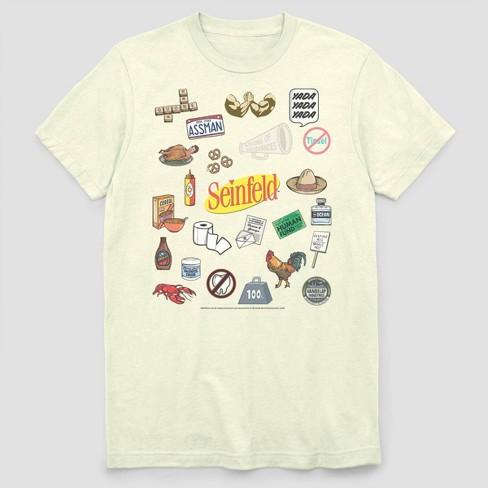 Men's FOX Seinfeld Item Jumble Short Sleeve Graphic Crewneck T-Shirt - White - image 1 of 2