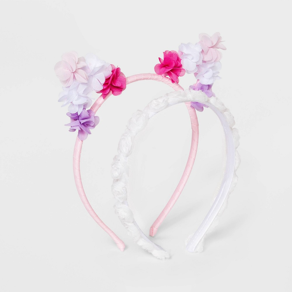 Baby Girls 39 2pk Cat Ears with Flower Metal Headband Cat 38 Jack 8482