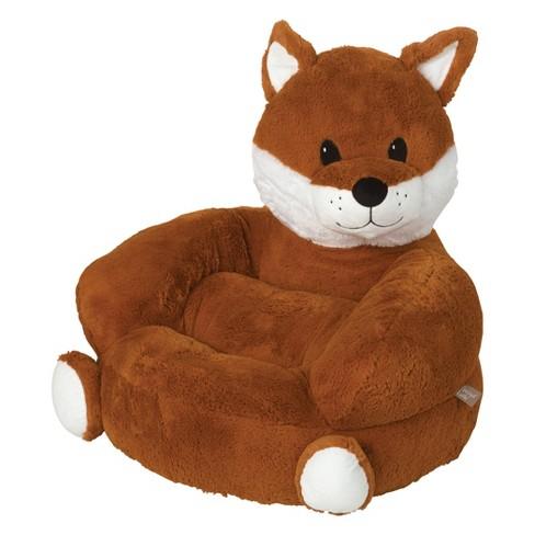 Kids Plush Fox Character Chair - Orange - Trend Lab : Target
