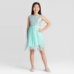 Girls' Sequin Dress - Cat & Jack™ Aqua