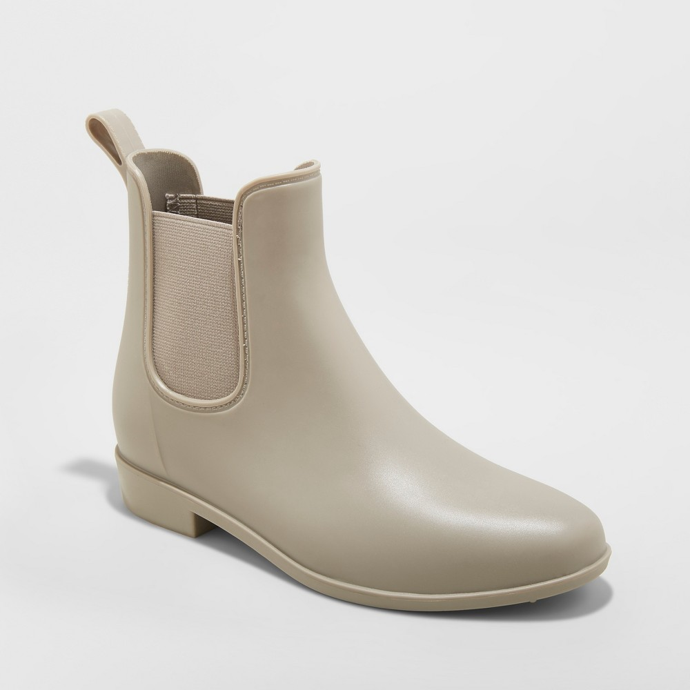Women's Chelsea Rain Boots - A New Day Gray 8
