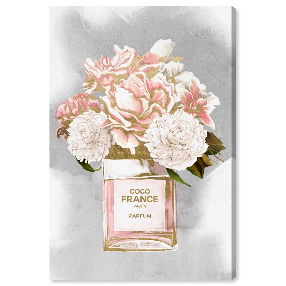 Image of 10'' x 15'' Floral Perfume Peonies Tall Unframed Wall Canvas Blush Pink - Oliver Gal
