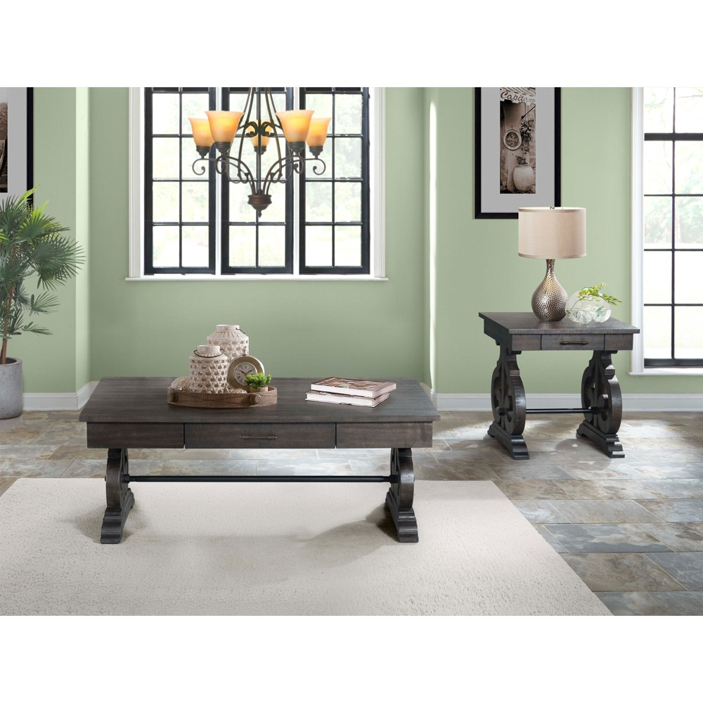 Stanford 2pc Occasional Set Coffee And End Table Dark Ash - Picket House Furnishings