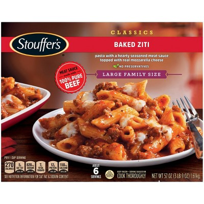 Stouffer's Frozen Family Size Baked Ziti - 57oz