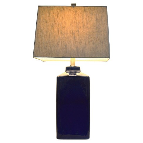 Ceramic Table Lamp 26 5 H Navy Blue Beige Target