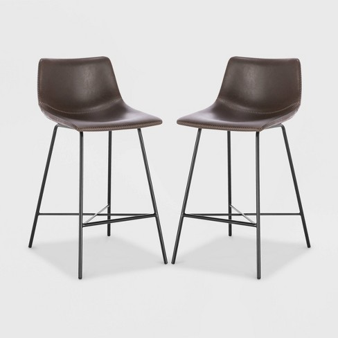 """Set of 2 24"""" Phillip Counter Height Barstools - Poly & Bark - image 1 of 4"""