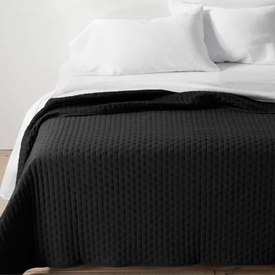 Full/Queen Cashmere Blend Quilt Washed Black - Casaluna™