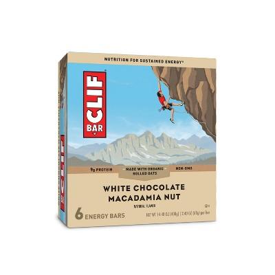 CLIF Bar White Chocolate Macadamia Nut Energy Bars - 6ct