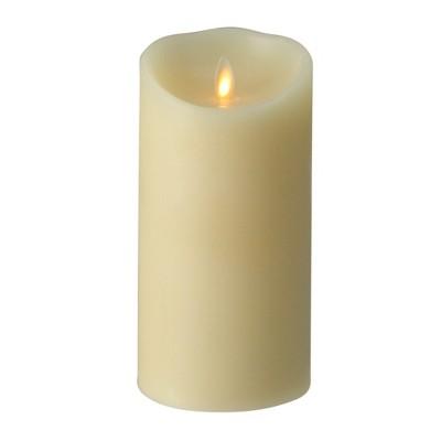 "Northlight 7.5"" Luminara Flickering Flameless Vanilla Scented Pillar Candle - Ivory"