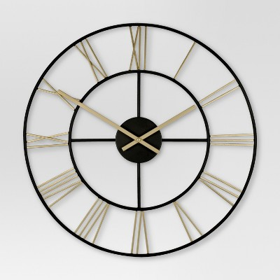 Decorative Wall Clock - Gold/Black - Threshold™