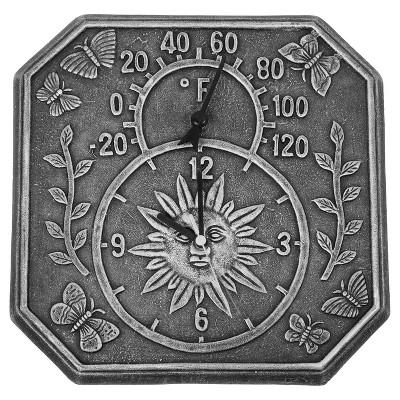 Poolmaster 13 3/8  Terra-Clock & Thermometer