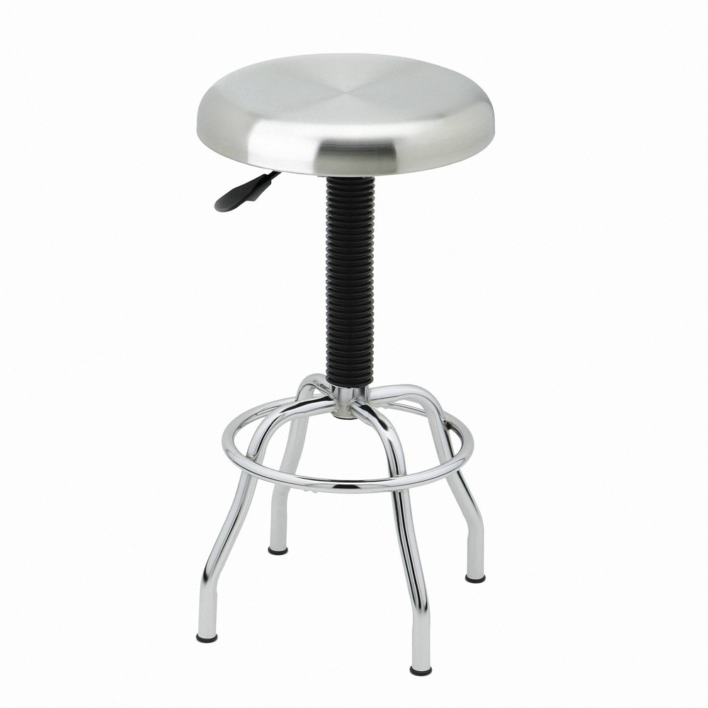 Image of Stainless Steel Top Pneumatic Work Stool Silver - Seville Classics