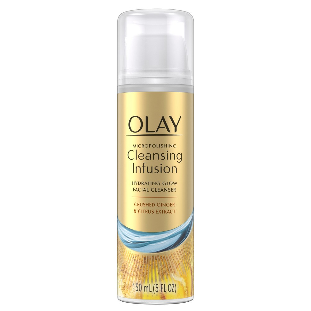 Olay Micropolishing Cleansing Infusion Facial Cleanser Ginger - 5oz