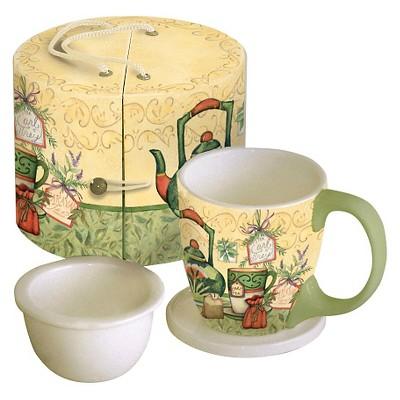 LANG 3pc Ceramic Tea Time Tea Cup Set 11oz