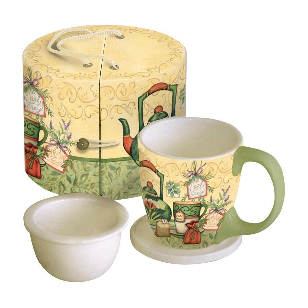 Image of LANG 3pc Ceramic Tea Time Tea Cup Set 11oz